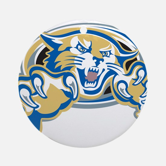 Wildcat Ornament (Round)