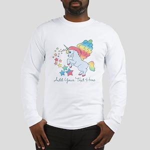 Unicorn Rainbow Star Long Sleeve T-Shirt