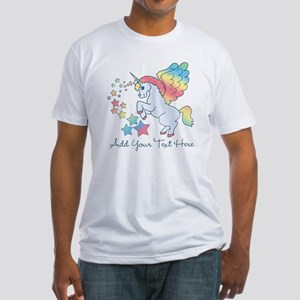 Unicorn Rainbow Star Fitted T-Shirt