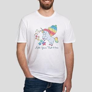 Unicorn Rainbow Star Fitted T-Shirt