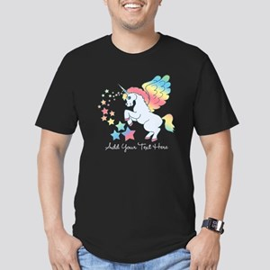 Unicorn Rainbow Star Men's Fitted T-Shirt (dark)