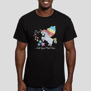 Unicorn Rainbow Star Men's Fitted T-Shirt (dark)