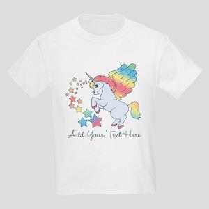 Unicorn Rainbow Star Kids Light T-Shirt