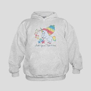 Unicorn Rainbow Star Kids Hoodie