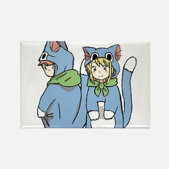 Fairy Tail Happy Suits Rectangle Magnet