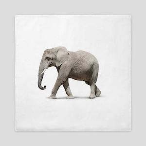Elephant Photo Queen Duvet