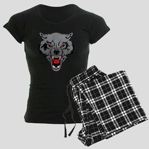 Angry Wolf Women's Dark Pajamas