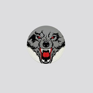 Angry Wolf Mini Button