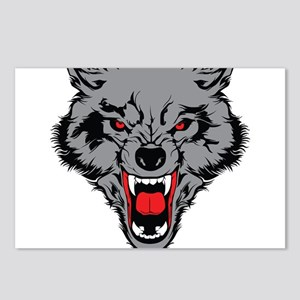 Angry Wolf Postcards (Package of 8)