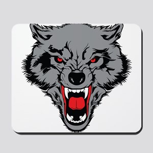 Angry Wolf Mousepad