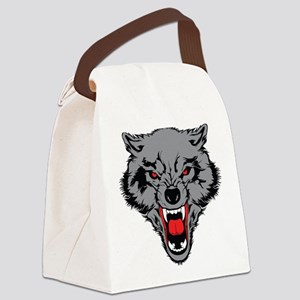 Angry Wolf Canvas Lunch Bag