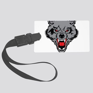 Angry Wolf Large Luggage Tag