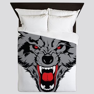 Angry Wolf Queen Duvet