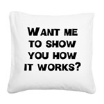 FIN-how it works.png Square Canvas Pillow