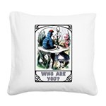 Who Are You Square Canvas Pillow