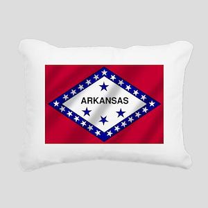 Arkansas State Flag Rectangular Canvas Pillow