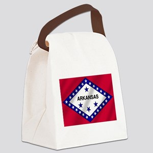Arkansas State Flag Canvas Lunch Bag