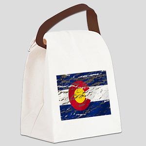Colorado Vintage Flag Canvas Lunch Bag