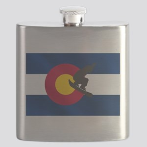 Colorado Snowboarding Flask