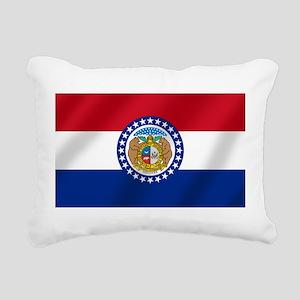 Missouri State Flag Rectangular Canvas Pillow
