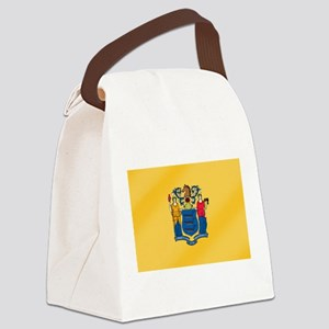 New Jersey State Flag Canvas Lunch Bag