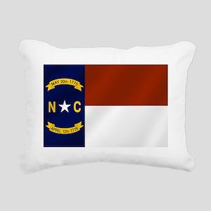 North Carolina Flag Rectangular Canvas Pillow
