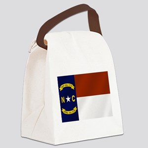 North Carolina Flag Canvas Lunch Bag