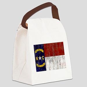 North Carolina Grunge Flag Canvas Lunch Bag