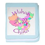 Wuhan China Map baby blanket