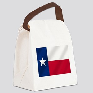 Texas State Flag Canvas Lunch Bag