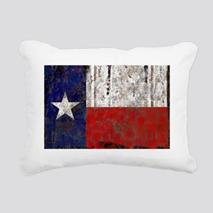 Retro Flag of Texas Rectangular Canvas Pillow