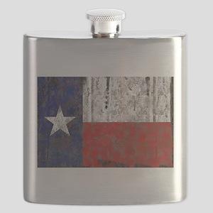 Retro Flag of Texas Flask