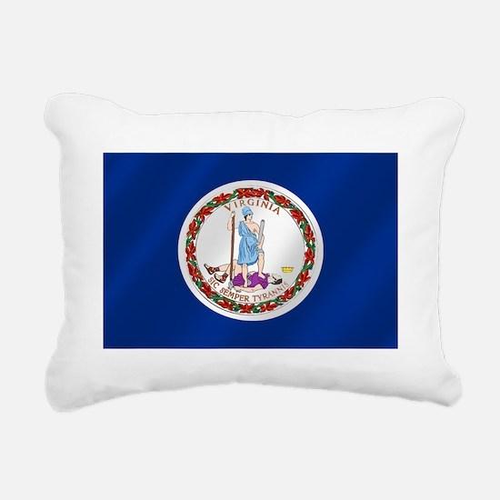 Virginia State Flag Rectangular Canvas Pillow