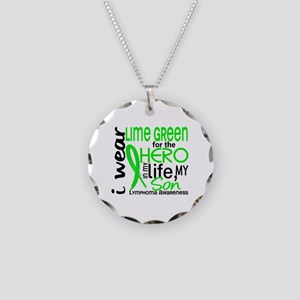 Hero in Life 2 Lymphoma Necklace Circle Charm