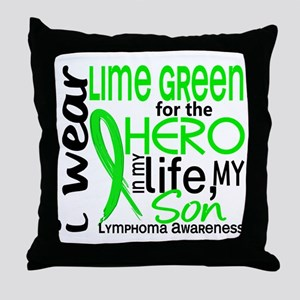 Hero in Life 2 Lymphoma Throw Pillow