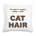 FIN-outfit-cat-hair... Square Canvas Pillow