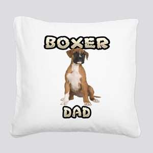 Boxer Dad Square Canvas Pillow