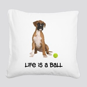 FIN-boxer-fawn-life Square Canvas Pillow
