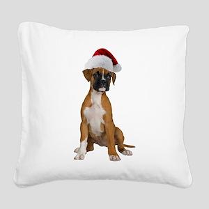 2-FIN-santa-boxer-2-CROP Square Canvas Pillow