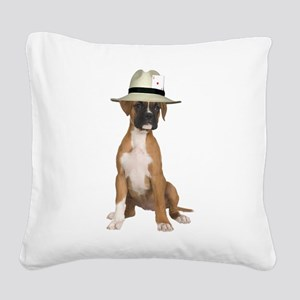 FIN-poker-boxer-fawn Square Canvas Pillow