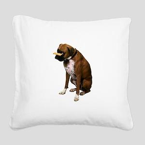 boxer-bone-photo.pn... Square Canvas Pillow