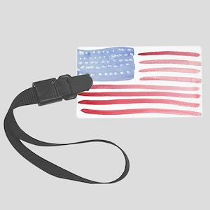 American Flag Large Luggage Tag