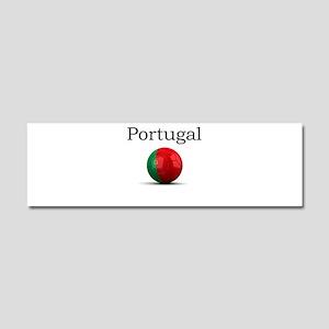 Soccer ball-portugal Car Magnet 10 x 3