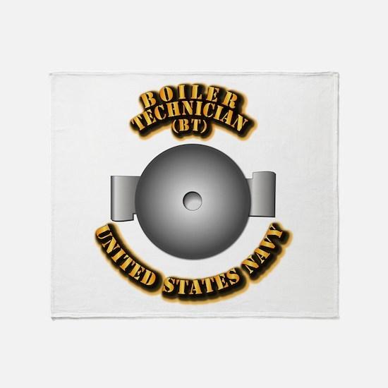 Navy - Rate - BT Throw Blanket
