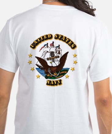 Navy - Rate - BT White T-Shirt