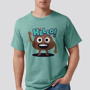 Emoji Poop Hello Mens Comfort Colors Shirt