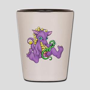 sitting dragon Shot Glass