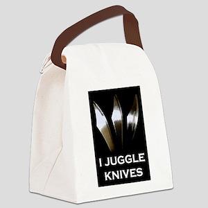 I Juggle Knives Canvas Lunch Bag
