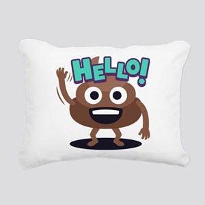 Emoji Poop Hello Rectangular Canvas Pillow