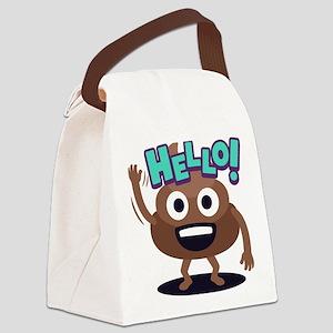 Emoji Poop Hello Canvas Lunch Bag